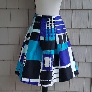 Lane Bryant Color Block Box Pleat Circle Skirt 22
